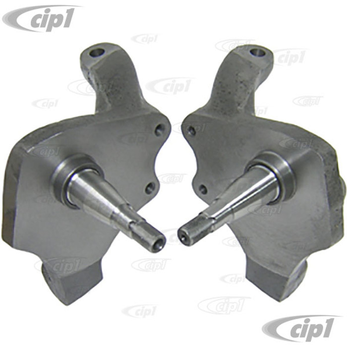 C13-22-2951 - 2-1/2 INCH DROP SPINDLES FOR BALL-JOINT FRONT END WITH DISC BRAKE MOUNT - BEETLE / GHIA 66-77 (EXCEPT SUPER BEETLE) - PAIR
