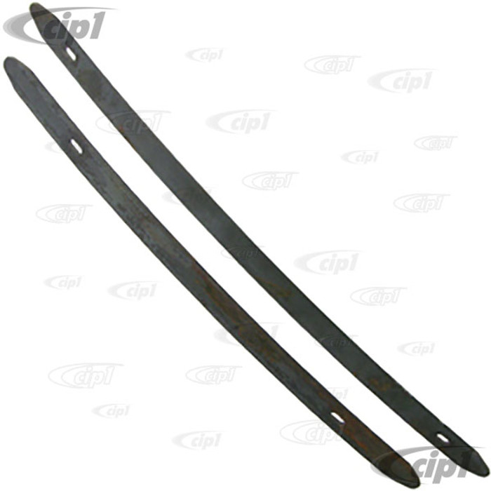 C13-3111-RKIT - (RAW STEEL - PAINTING REQUIRED) FRONT AND REAR BUMPER GUARD BAR SET - BEETLE 46-67 - (A15)