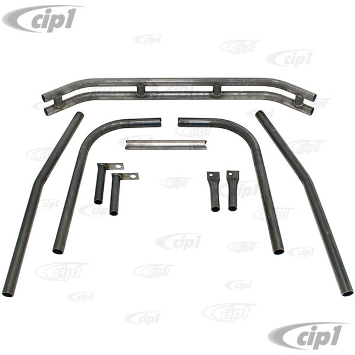 C13-3136 - EMPI - 1-1/2 INCH DIA. REAR BAJA DOUBLE TUBE BUMPER WITH MOUNTING HARDWARE - SHOCK TOWER MOUNT - KNOCKED-DOWN (UNASSEMBLED - WELDING REQUIRED) - SOLD KIT