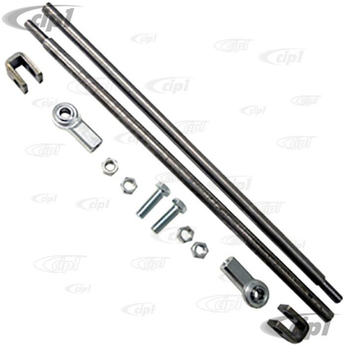 C13-3145 - EMPI – TIE ROD KIT – WITH CLEVIS SIDES - FITS MOST AFTERMARKET RACK PINION UNITS - WITH HEIM JOINT TIE-ROD ENDS - SET