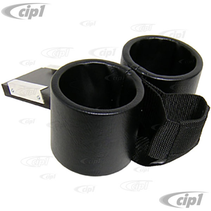 ACC-C10-9109-C - ASHTRAY CUP HOLDER WITH CELL PHONE HOLDER - FITS INTO ASHTRAY SLOT - SMOOTH BLACK VINYL - THING 73-74 - SOLD EACH