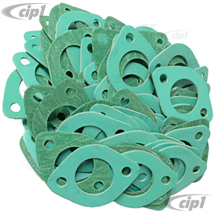 C13-3391-100 - BAG OF 100 - EXHAUST PORT GASKETS 1-1/2 4 PC SET FOR BEETLE STYLE ENGINES - BAG OF 100