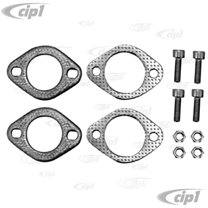 C13-3640 - PREMIUM HEATER BOX AND J-PIPE WELD ON FLANGE KIT- METAL GASKETS & DELUXE HARDWARE (FOR ALL STANDARD SIZE 1-3/8 INCH)