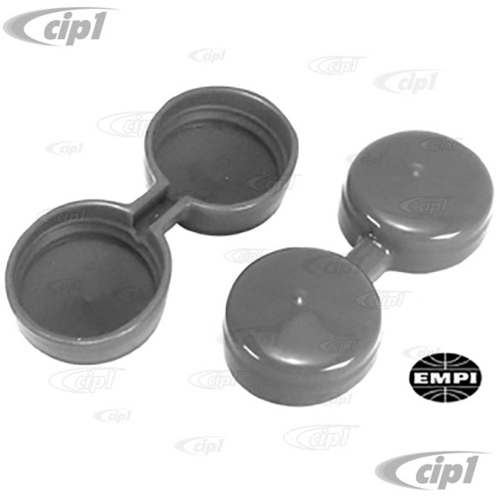 C13-43-5720 - EMPI BRAND - MOLDED VINYL VELOCITY STACK COVERS - FIT 40-44MM IDF WEBER CARB. - SOLD PAIR