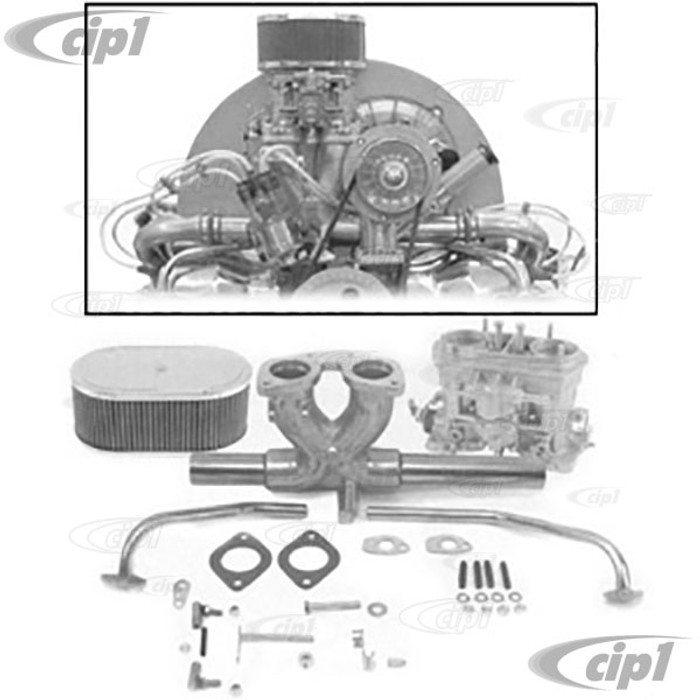 C13-43-7315 - GENUINE WEBER SINGLE 40 MM IDF CARB KIT - INCLUDES MANIFOLD-LINKAGE-AIR CLEANER - (A25)
