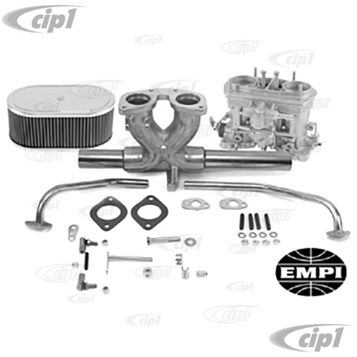 C13-43-7316 - GENUINE WEBER SINGLE 44 MM IDF CARB KIT - INCLUDES MANIFOLD-LINKAGE-AIR CLEANER - (A25)