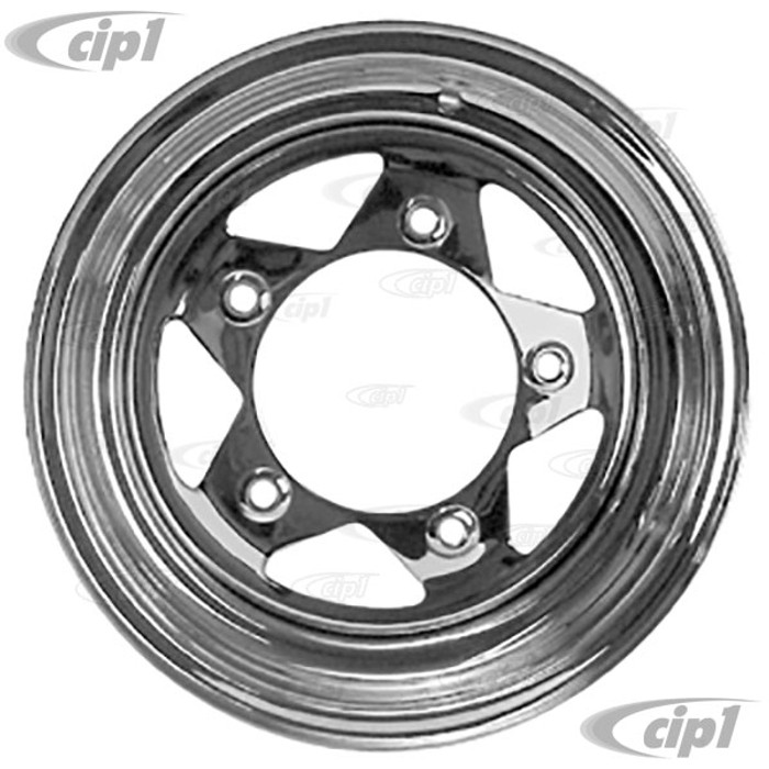 ACC-C10-1021 - CHROME SPOKE STEEL BAJA WHEEL 15X6 - 5X205MM BOLT PATTERN - 3.25 INCH BACKSPACING (CLEARANCE PRICED - ONLY ONE WHEELAVAILABLE) - SOLD EACH