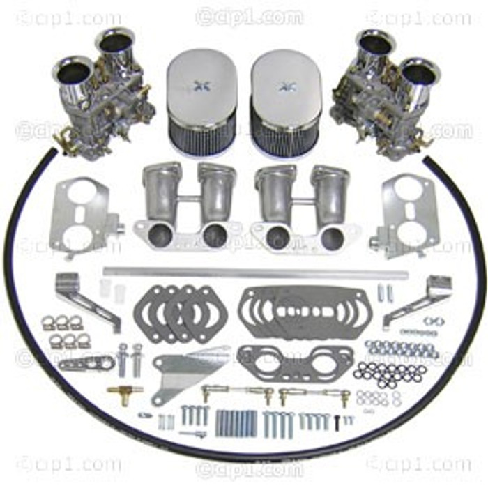 C13-47-7295 - DUAL 44HPMX EMPI CARB KIT - TYPE 2/4 - 17-2000CC BUS 72-79 ENGINES WITH HEX-BAR LINKAGE - (A30)