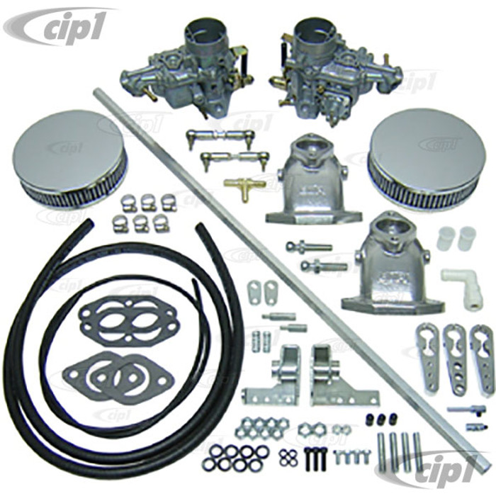C13-47-7311 - DUAL EMPI 34MM EPC CARB KIT W/ HEX BAR LINKAGE FOR ALL TYPE-3 DUAL PORT ENGINES - (A30)
