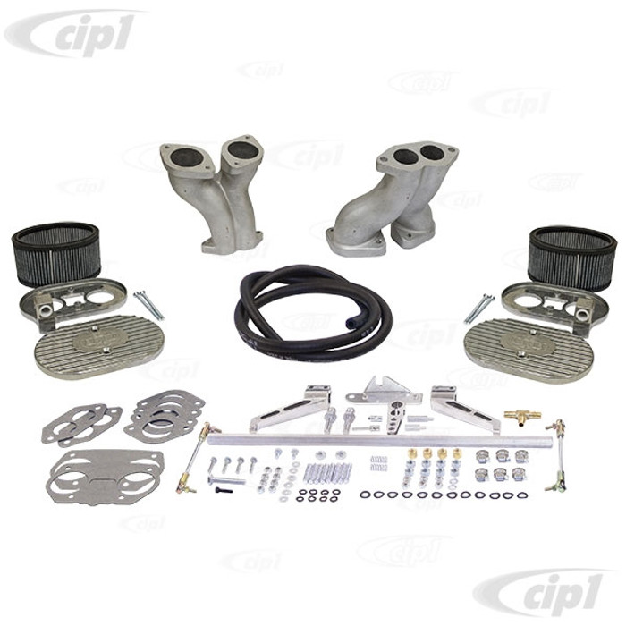 C13-47-7332 - EMPI – ULTRA COMBO KIT - DUAL MANIFOLDS / ULTRA HEX BAR LINKAGE KIT / WITH AIR CLEANERS – ALL 40/44MM HPMX – IDF CARBS - ALL T1 1600CC STYLE ENGINES – INCLUDES ALL HARDWARE - (A20)
