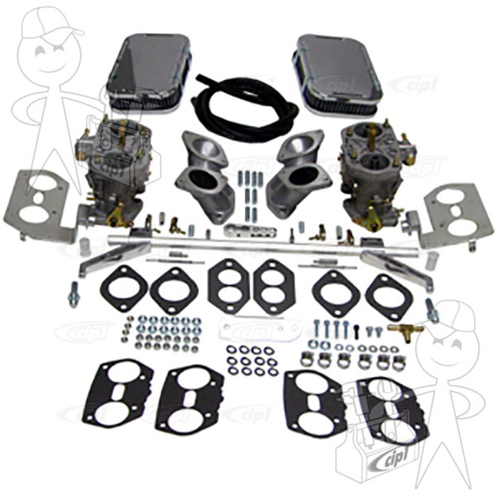 C13-47-7341 - DUAL 40HPMX EMPI CARB KIT - TYPE-3 - 1600CC BASED ENGINES WITH HEX-BAR LINKAGE - WITHOUT VELOCITY STACKS -(A30)