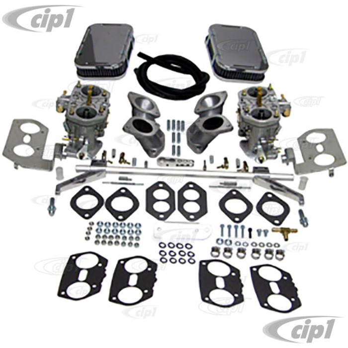 C13-47-7342 - DUAL 44HPMX EMPI CARB KIT - TYPE-3 - 1600CC BASED ENGINES WITH HEX-BAR LINKAGE -WITHOUT VELOCITY STACKS - (A30)