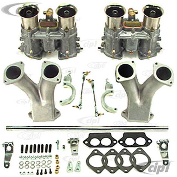 C13-47-7429 - DUAL EMPI EPC 51MM (IDA STYLE) CARBURETOR KIT W/RACING MANIFOLDS - W/HEX X-BAR LINKAGE - FOR 1600CC BEETLE STYLE ENGINES WITH DUAL PORT HEADS - (A30)