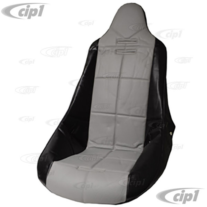 C13-62-2353 - EMPI - POLY HIGH BACK BUCKET SEAT COVER – BLACK WITH GREY INSERT – SQUARE PATTERN (FIT ACC-C10-2270 SEAT) - SOLD EACH