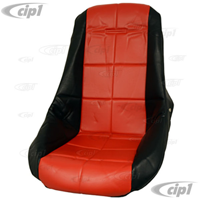 C13-62-2410 - EMPI - POLY LOW BUCKET SEAT COVER – BLACK WITH RED INSERT – SQUARE PATTERN (FIT ACC-C10-2280 SEAT) - SOLD EACH