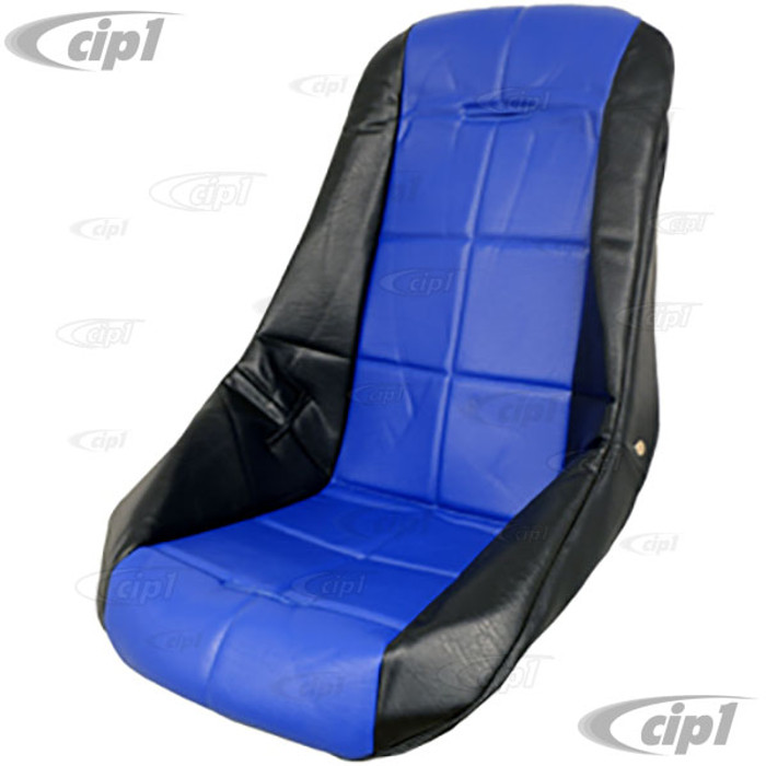C13-62-2411 - EMPI - POLY LOW BUCKET SEAT COVER – BLACK WITH BLUE INSERT – SQUARE PATTERN (FIT ACC-C10-2280 SEAT) - SOLD EACH