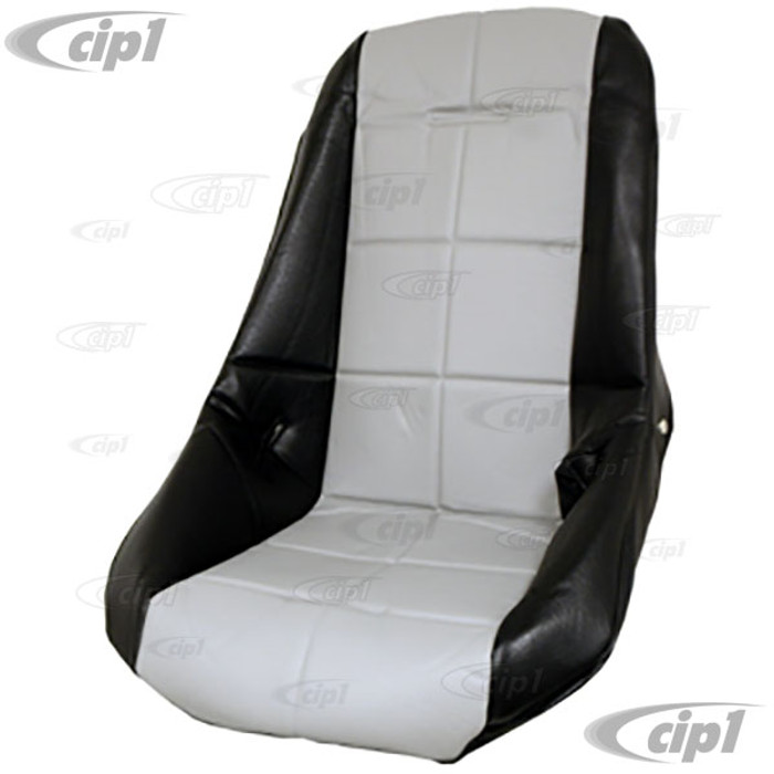 C13-62-2412 - EMPI - POLY LOW BUCKET SEAT COVER – BLACK WITH GREY INSERT – SQUARE PATTERN (FIT ACC-C10-2280 SEAT) - SOLD EACH
