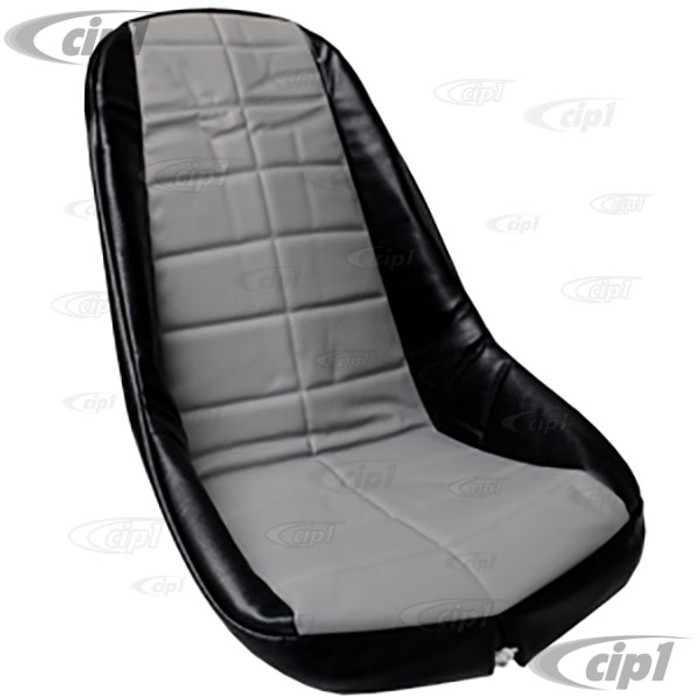 C13-62-2613 - EMPI - PLASTIC LOW BUCKET SEAT COVER – BLACK WITH GREY INSERT – SQUARE PATTERN (FIT ACC-C10-2200 SEAT) - SOLD EACH