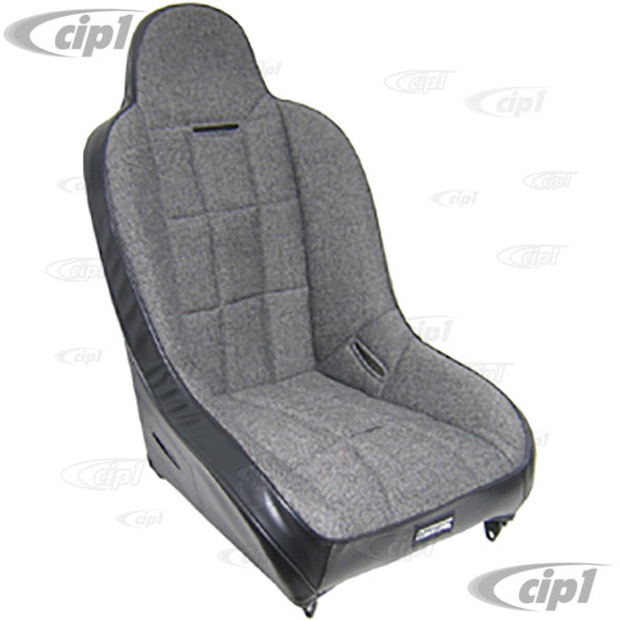 C13-62-2750 - RACE-TRIM SUSPENSION SEATS - IDEAL FOR OFF-ROAD - SOLD EACH W/O ADAPTERS - BLACK VINYL/GREY CLOTH - (A50)