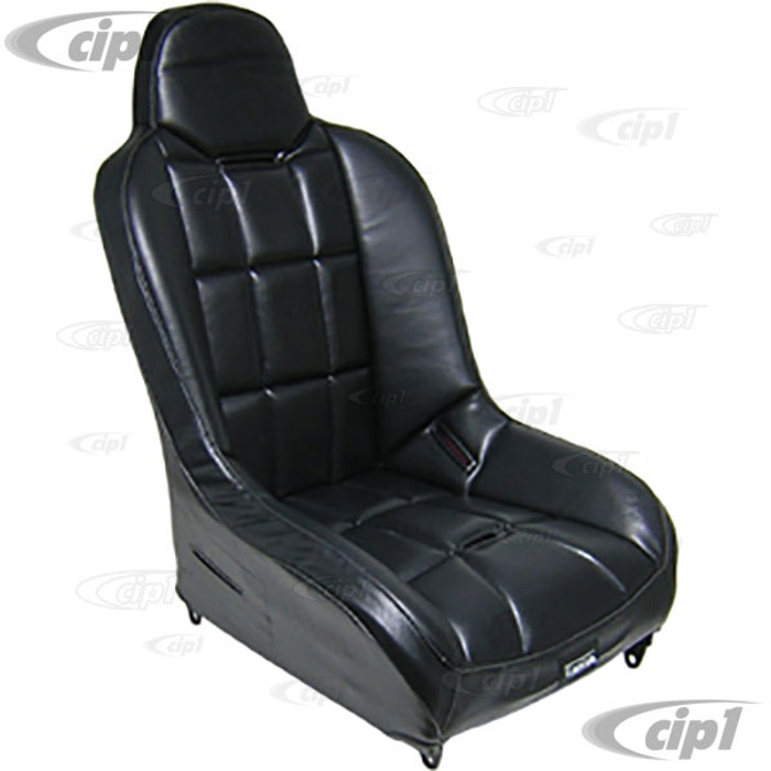 C13-62-2752 - RACE-TRIM SUSPENSION SEATS - IDEA FOR OFF-ROAD - SOLD EACH W/O ADAPTERS - ALL BLACK VINYL - (A50)