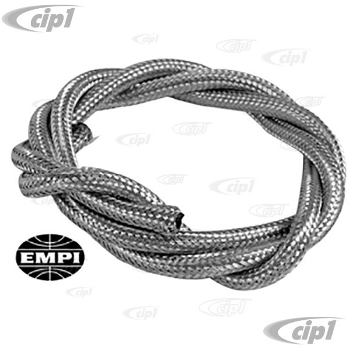 C13-8810 - EMPI BRAND -STAINLESS STEEL BRAIDED 1/4 INCH FUEL LINE - ID - 5 FEET