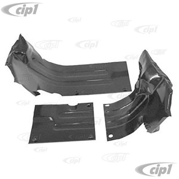 C13-8948 - BLACK - EMPI - 3 PIECE HEATER BOX TIN - WILL DO BOTH LEFT & RIGHT SIDES (WILL REQUIRE BENDING TO FIT) - ALL 40HP 12-1600CC BEETLE ENGINES - SOLD 3 PIECE SET