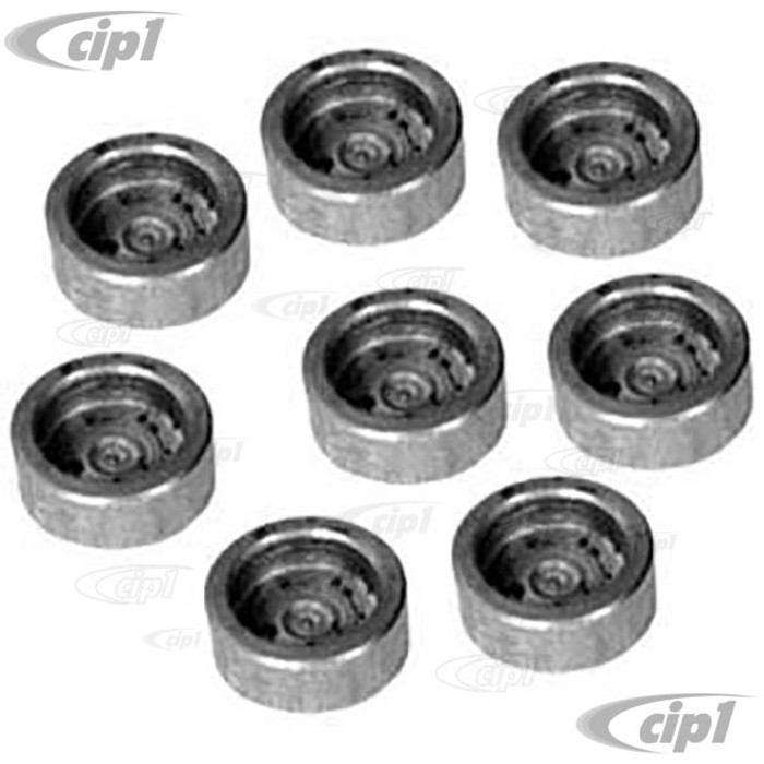 ACC-C10-5309 - (00-4006) SET TO 8 HARDENED VALVE STEM LASH CAPS FOR 8MM STEM - ALL 1600CC BEETLE STYLE ENGINES - SOLD SET OF 8