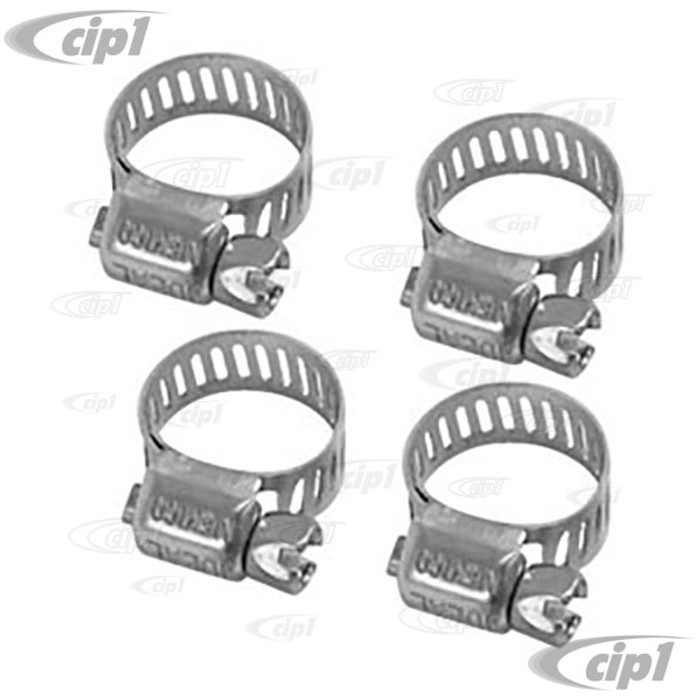 C13-9224 - FUEL HOSE CLAMPS - PACK OF 4 - 1/4 TO 5/16 - INCH DIAMETER HOSE - SET OF 4