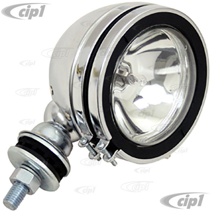 C13-9309 - EMPI - CHROME 12 VOLT OFF-ROAD LIGHT WITH H3/100 WATT BULB- 5 INCH - MOUNTING HARDWARE INCLUDED - SOLD EACH