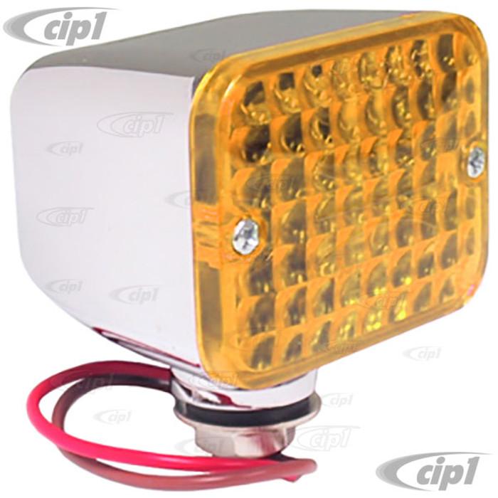 C13-9335 - MINI LIGHT WITH AMBER LENS - SIZE 2 1/2 X 1 3/4 X 2