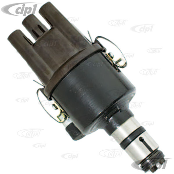 C13-9471-B - EMPI - BLACK CAST STEEL 009 STYLE DISTRIBUTOR - WITH BROWN BAKELITE CAP - READY TO DROP IN AND GO - SOLD EACH