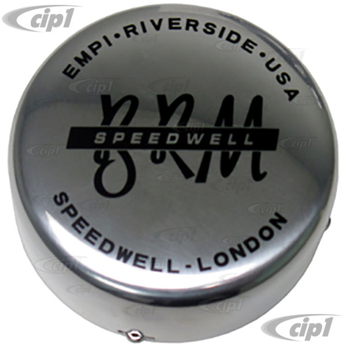 C13-9704 - EMPI - CENTER CAP - BRUSHED FINISH - 1 INCH TALL - FLAT STYLE WITH SPRING CLIP - FITS 80MM / 3.15 INCH HOLE - FOR ALL BRM REPLICA WHEEL - SOLD EACH