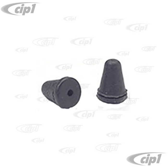 C16-111-145A - (111-857-145A 111857145A) - GLOVEBOX RUBBER STOPS - GAS DOOR BEETLE/GHIA/TYPE-3 68-79 - BUS 55-73 - GLOVEBOX BEETLE 52-77 / BEETLE CONVERTIBLE 52-72 / ALL GHIA /TYPE-3 - SOLD PAIR