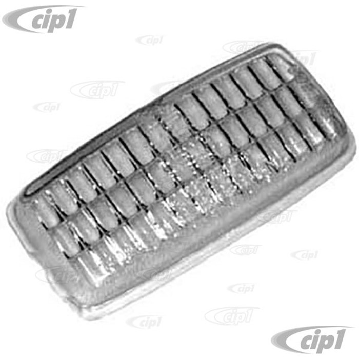 C16-111-371 - (111-941-371 111941371) - GENUINE GERMAN - REPLACEMENT CLEAR GLASS LENSE FOR REVERSE/BACK-UP LIGHT - BEETLE 1967 / GHIA 67-69 / BUS 67-71 / TYPE-3 67-69 - SOLD EACH