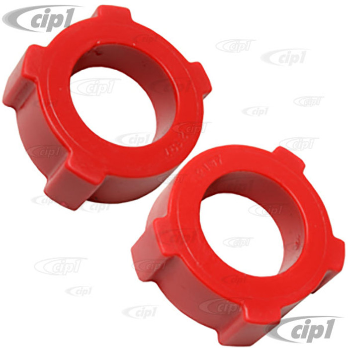 ACC-C10-4004 - EMPI 16-5132 - SPRING PLATE URETHANE KNOBBY BUSHING (2 IN. I.D.) BEETLE/GHIA - WITH ADJUSTABLE SPRING PLATES - SOLD PAIR