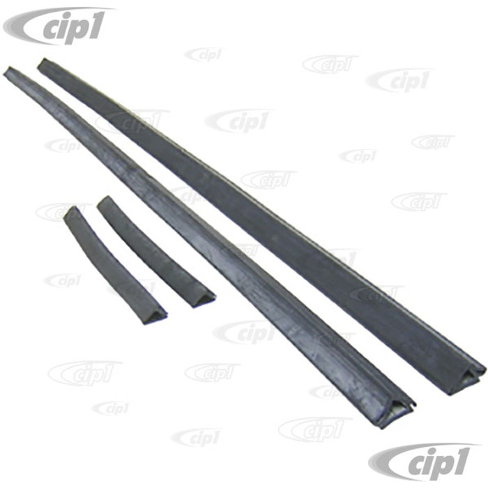 C16-143-341A-LR - (143-847-341A 143847341A) - SET OF 4 SEALS - GLASS TO TOP AND SIDE OF DOOR OPENING (1 INCH BASE WIDTH) - DOES BOTH LEFT / RIGHT SIDES - GHIA SEDAN 60-66 - SOLD 4 PIECE SET