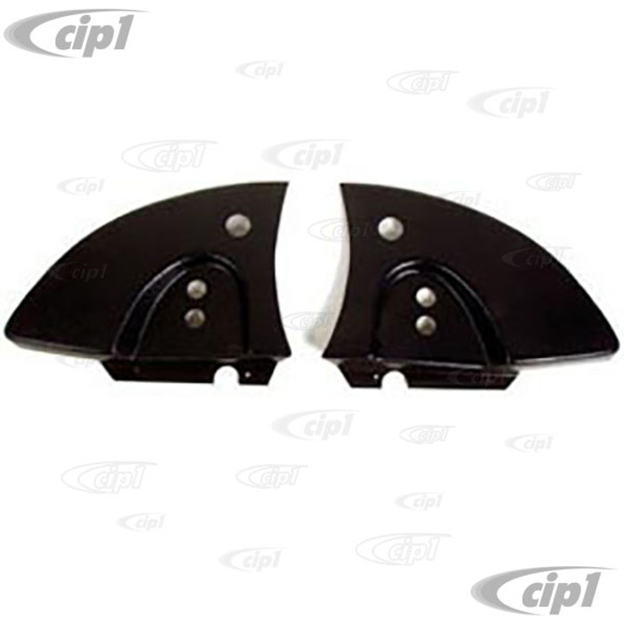 C16-151-198B-LR-BK - (151-871-193-C 151871193C) - FROM GERMANY - PAIR OF CONVERTIBLE HINGE COVERS - BLACK PLASTIC - LEFT AND RIGHT - BEETLE 68-79 - SOLD PAIR