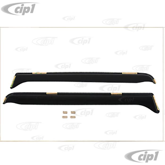 C20-853-9756 - SMOKED FRONT DOOR WINDOW WIND AND RAIN DEFLECTORS - VANAGON T25 80-91 - SOLD PAIR