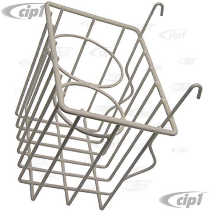 C21-0549-01 - STOW AWAY BASKET AND CUP HOLDER - CLIPS ONTO DASH - BUS 52-67 - WHITE