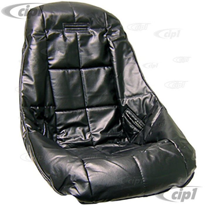 ACC-C10-2281 - EMPI 62-2408 - POLY LOW BACK BUCKET SEAT COVER (ONLY) WITH SQUARE PATTERN - BLACK - SOLD EACH
