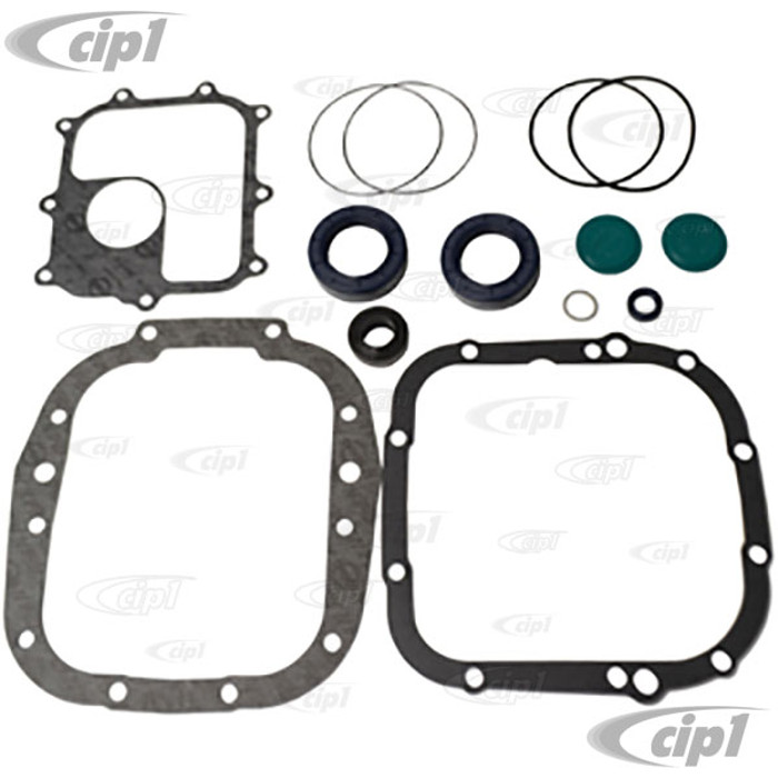 C24-002-398-005-BC - (002398005B) GERMAN MADE - DELUXE MANUAL TRANSMISSION GASKET SET WITH SEALS - BUS 69-75 FROM CH# 219-020-134 - SOLD SET