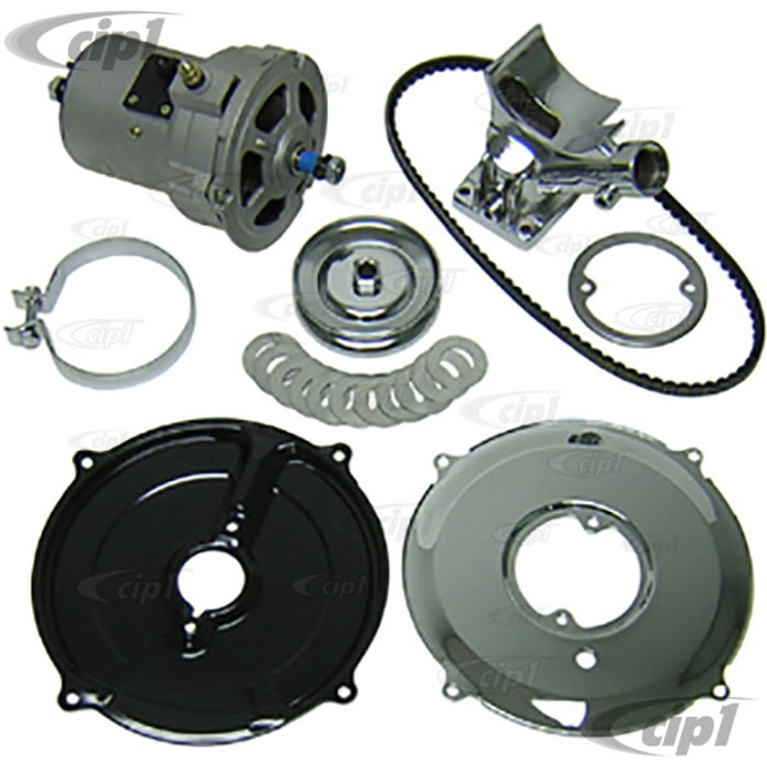 ACC-C10-5750-CH - (043-903-023-A 043903023A) EMPI 9450 9451 - DELUXE CHROMED HIGH OUTPUT ALTERNATOR CONVERSION KIT - FOR ALL 12-1600CC BEETLE/GHIA STYLE ENGINES - SOLD EACH