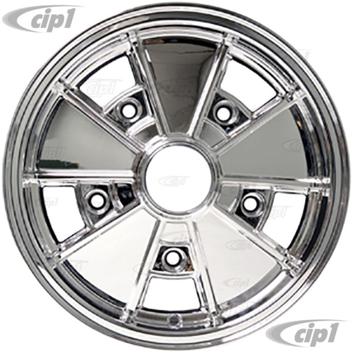ACC-C10-6662 - BRM REP. CHROMED 5 SPOKE WHEEL - 15 IN. x 5.5 IN. WIDE - WIDE 5 BOLT (5x205MM) CENTER CAP AND MOUNTING HARDWARE IS SOLD SEPARATELY SOLD EACH - (A20)