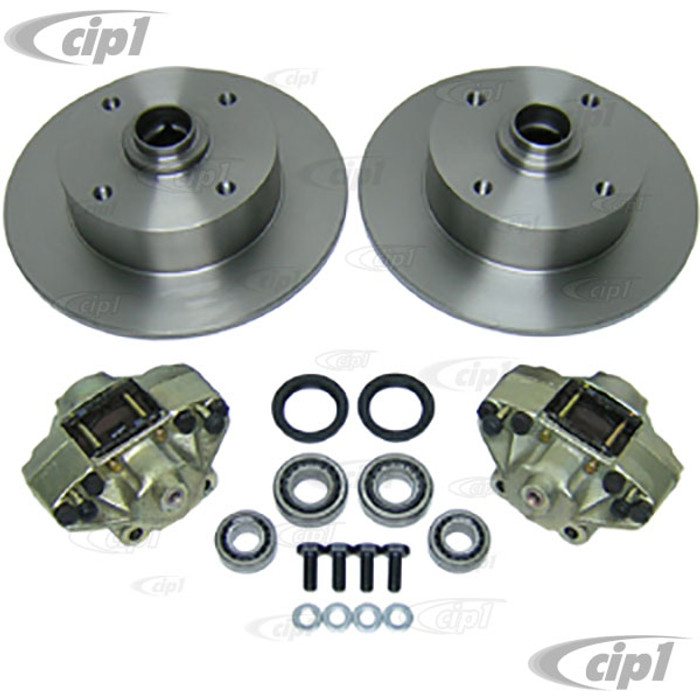 ACC-C10-4124 - DISC BRAKE COMPLETER KIT ALL BEETLE & GHIA - WITH YOUR CHOICE OF FRONT ROTORS - (A40)