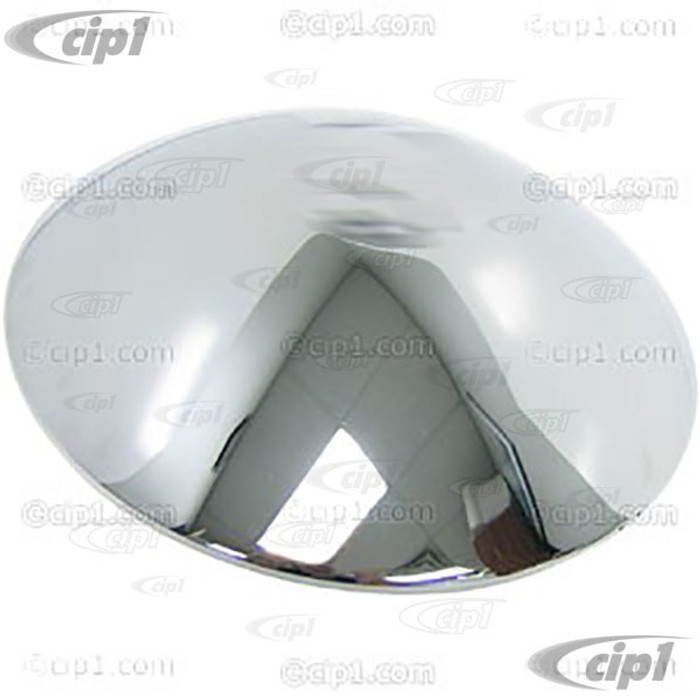 C24-111-601-151 - (111601151) EXCELLENT QUALITY GENUINE VW - CHROME STOCK HUBCAP FOR 5 BOLT WHEEL - BEETLE 46-65/GHIA 56-65/BUS 50-70/THING 73-74 - SOLD EACH