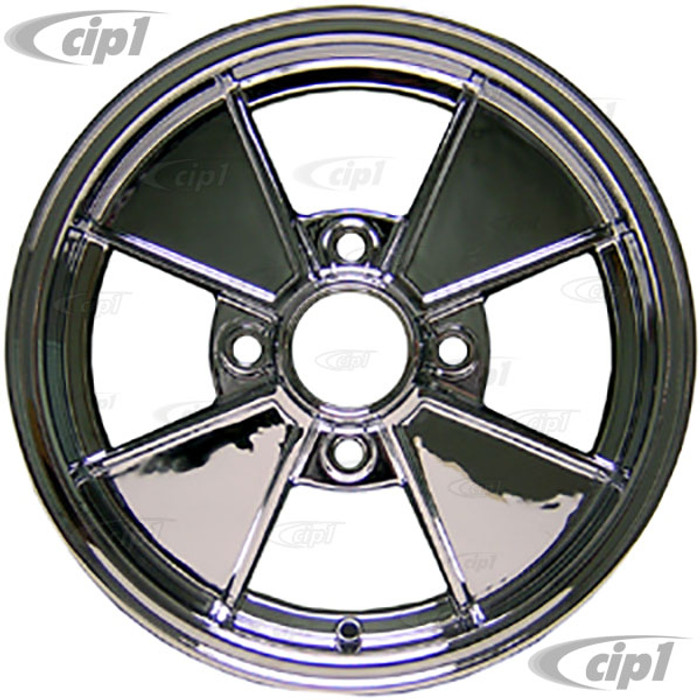 ACC-C10-6664 - Cip1 RESTO WHEELS - CHROME BRM REPLICA 4 SPOKE WHEEL - 15 INCH x 5 INCH WIDE (4x130MM PATTERN BR4C) CENTER CAP AND MOUNTING HARDWARE IS SOLD SEPARATELY - SOLD EACH