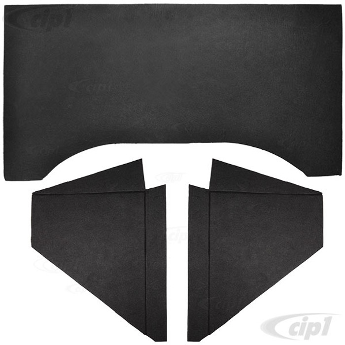 C24-111-898-805 - (111898805 111-813-805 111813805) TOP QUALITY (THICK) 3 PIECE FIREWALL TAR BOARD INSULATION KIT  BEETLE 56-77 (NOT CONVERTIBLE) - SOLD 3 PIECE SET