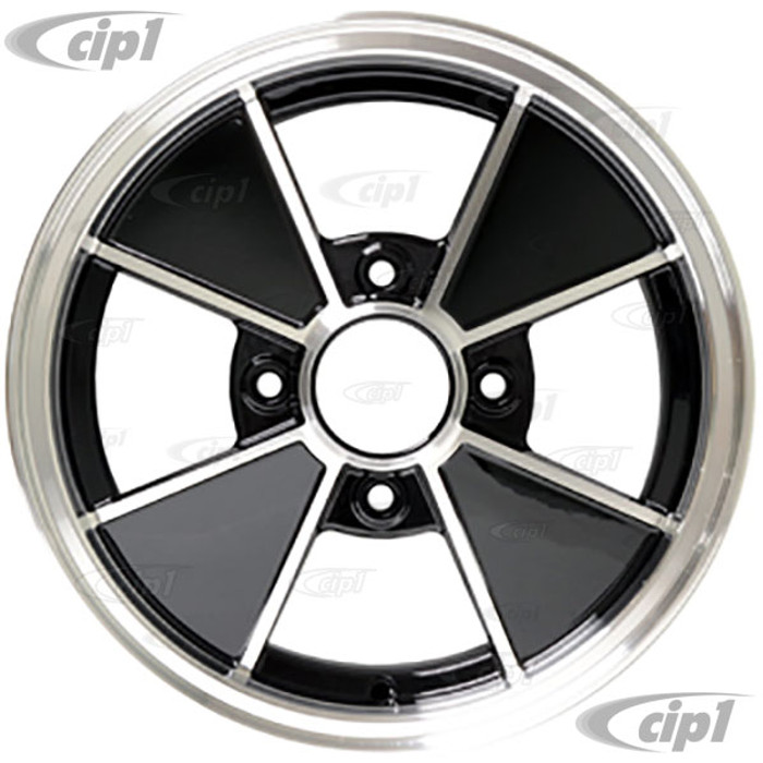 ACC-C10-6629 - BRM REPLICA BLACK 4 SPOKE WHEEL -  15 IN. x 5 IN. WIDE (4x130MM BOLT PATTERN) CENTER CAP AND MOUNTING HARDWARE IS SOLD SEPARATELY - (A20)