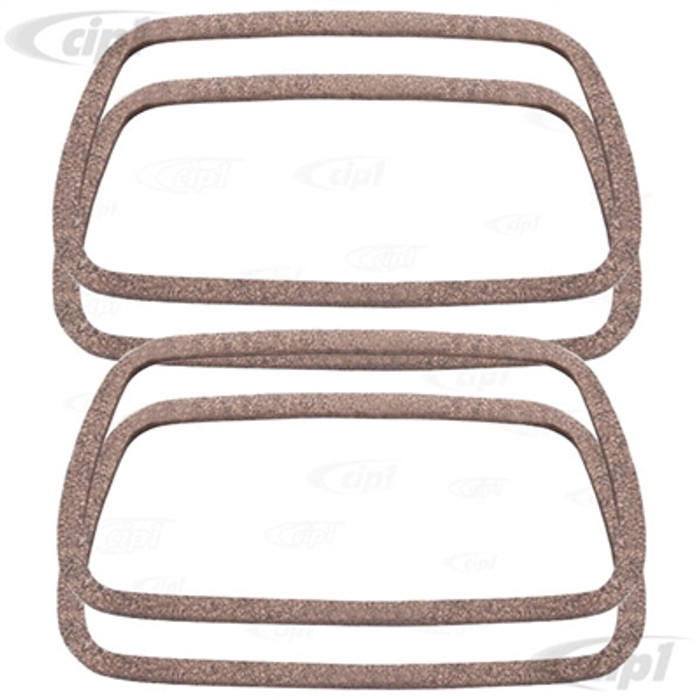 C24-113-101-481-F4 - (113101481F) GERMAN ELRING - SET OF 4 VALVE COVER GASKETS - ALL 40HP 12-1600CC BEETLE STYLE ENGINES / VANAGON 1.9L & 2.1L - SOLD SET OF 4