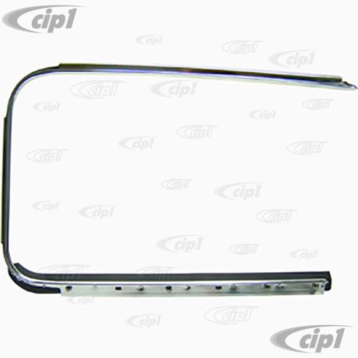 C24-113-853-322-CGR - (113853321C) GERMAN MADE - OUTSIDE DOOR SCRAPER WITH ALUMINUM MOLDING TRIM - RIGHT - BEETLE 52-64 - SOLD EACH